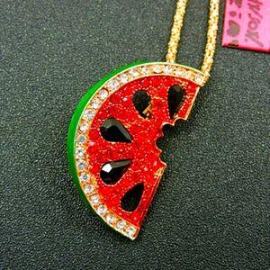 Betsey Johnson Watermelon Necklace